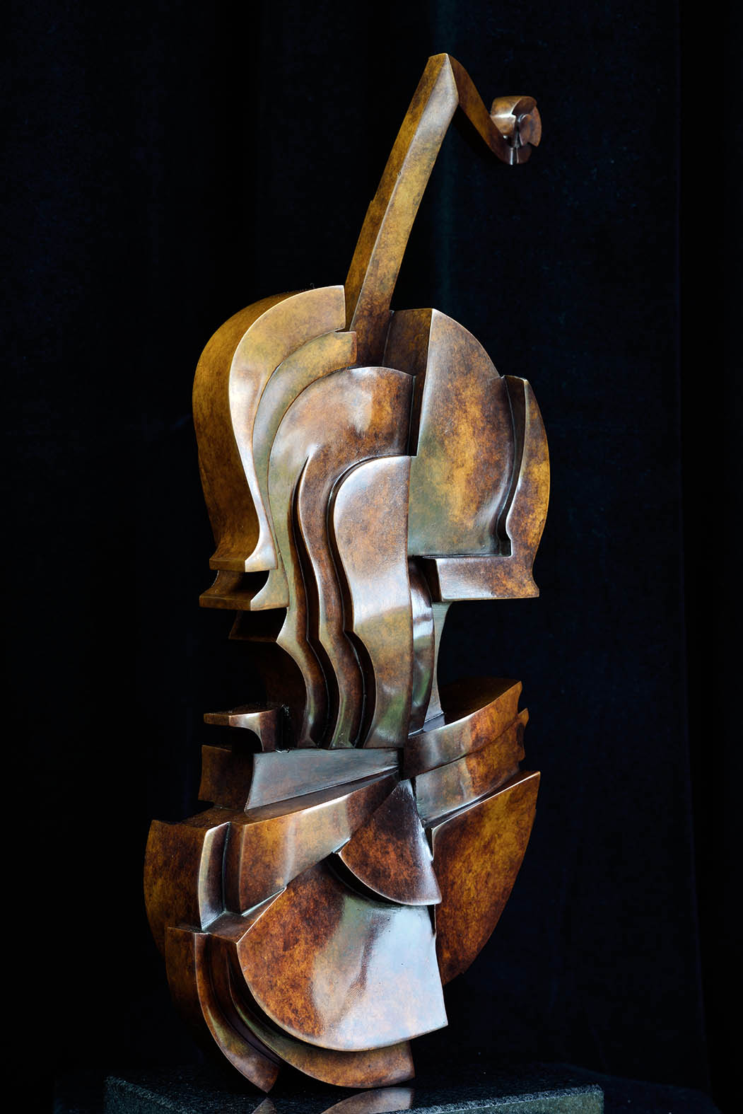 Cello by Andrew Thomas, from the Instrument series. Bronze