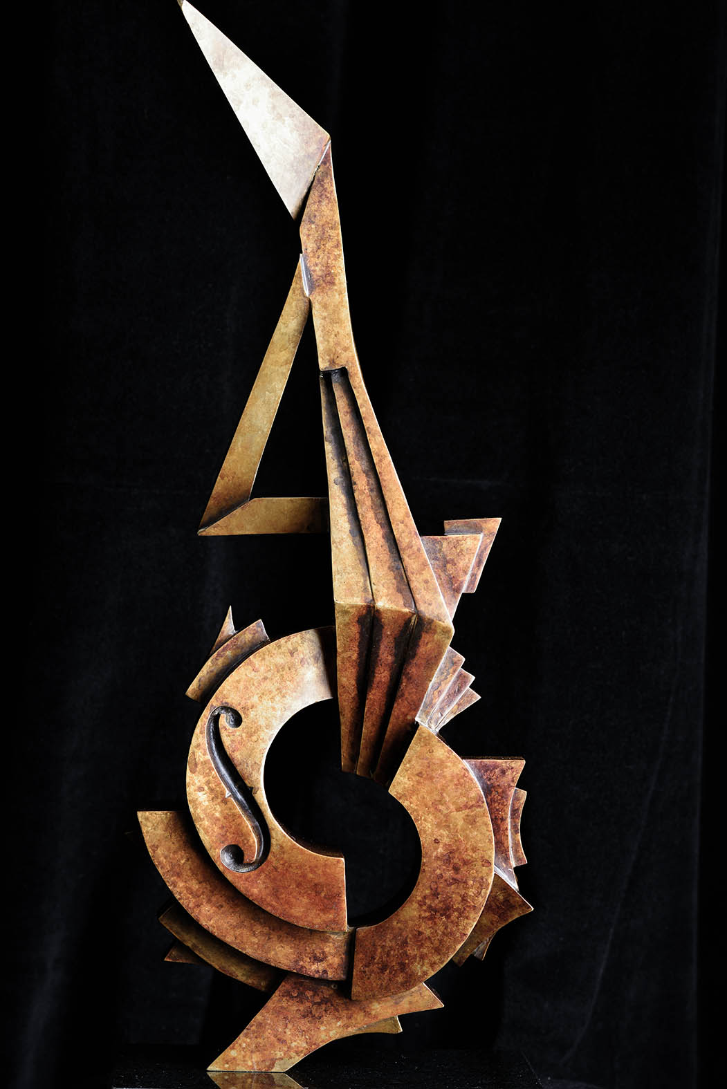 Electric Guitar by Andrew Thomas, from the Instrument series. Bronze limited edition of seven