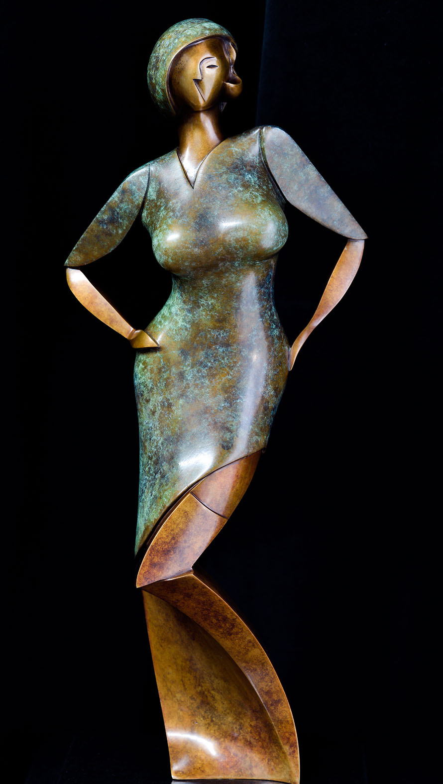 Eva by Andrew Thomas, from the Female series. Bronze limited edition of seven