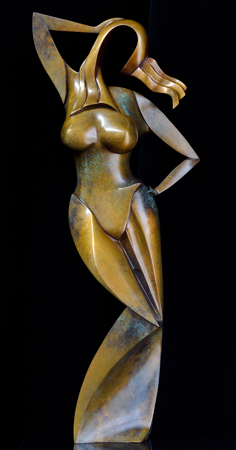Ora by Andrew Thomas, from the Female series. Bronze limited edition of seven