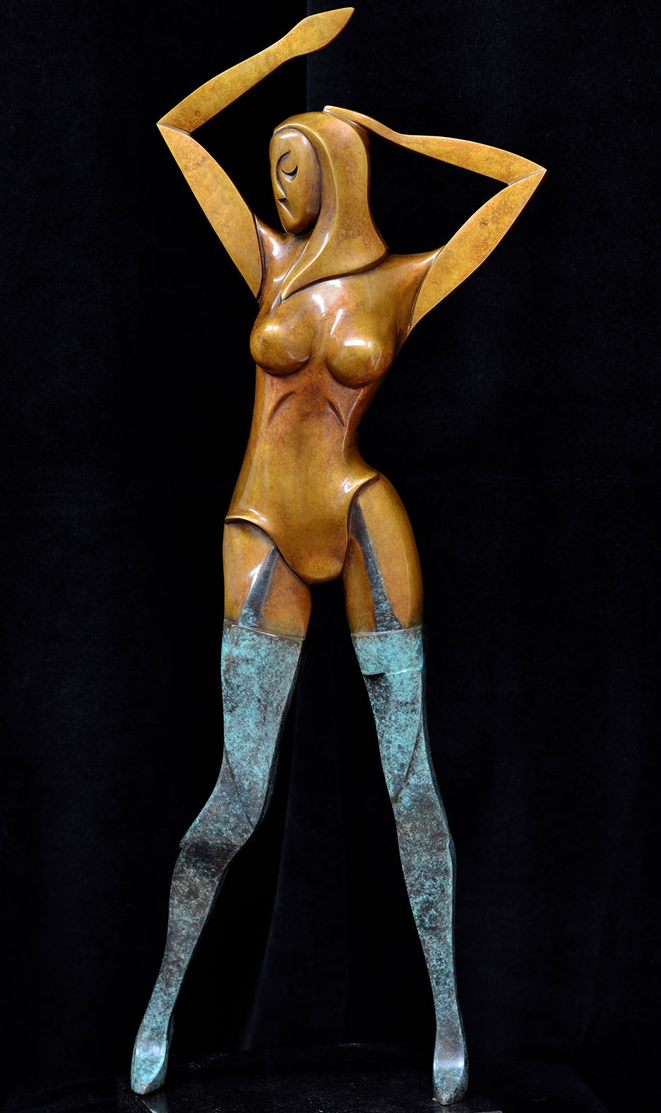 Rosa by Andrew Thomas, from the Female series. Bronze