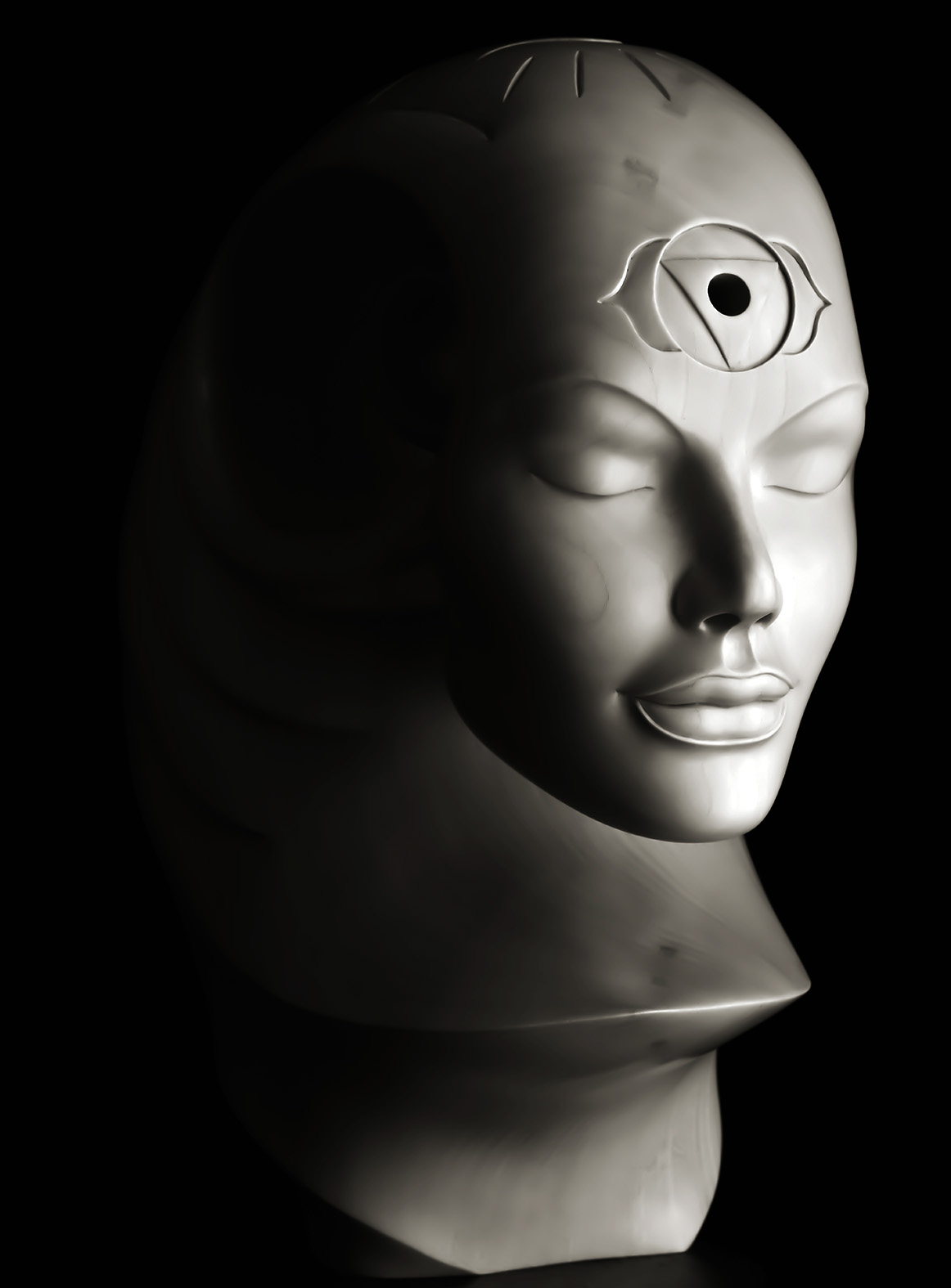 Samadhi by Andrew Thomas. Original sculpture in Limewood