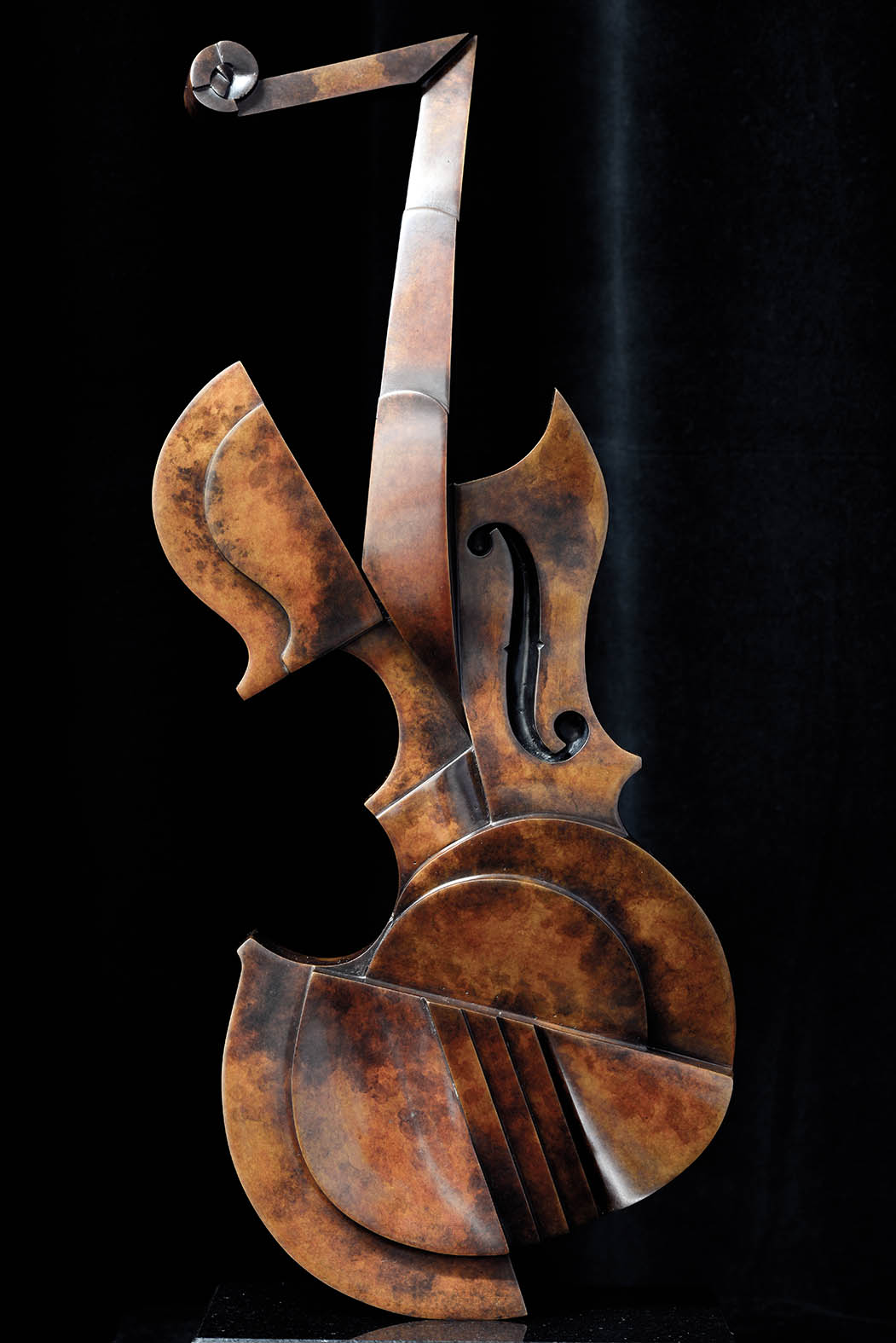 Violin by Andrew Thomas, from the Instrument series. Bronze limited edition of twelve